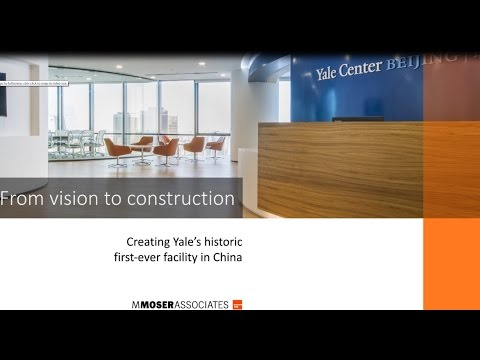 From vision to construction: Yale Center Beijing