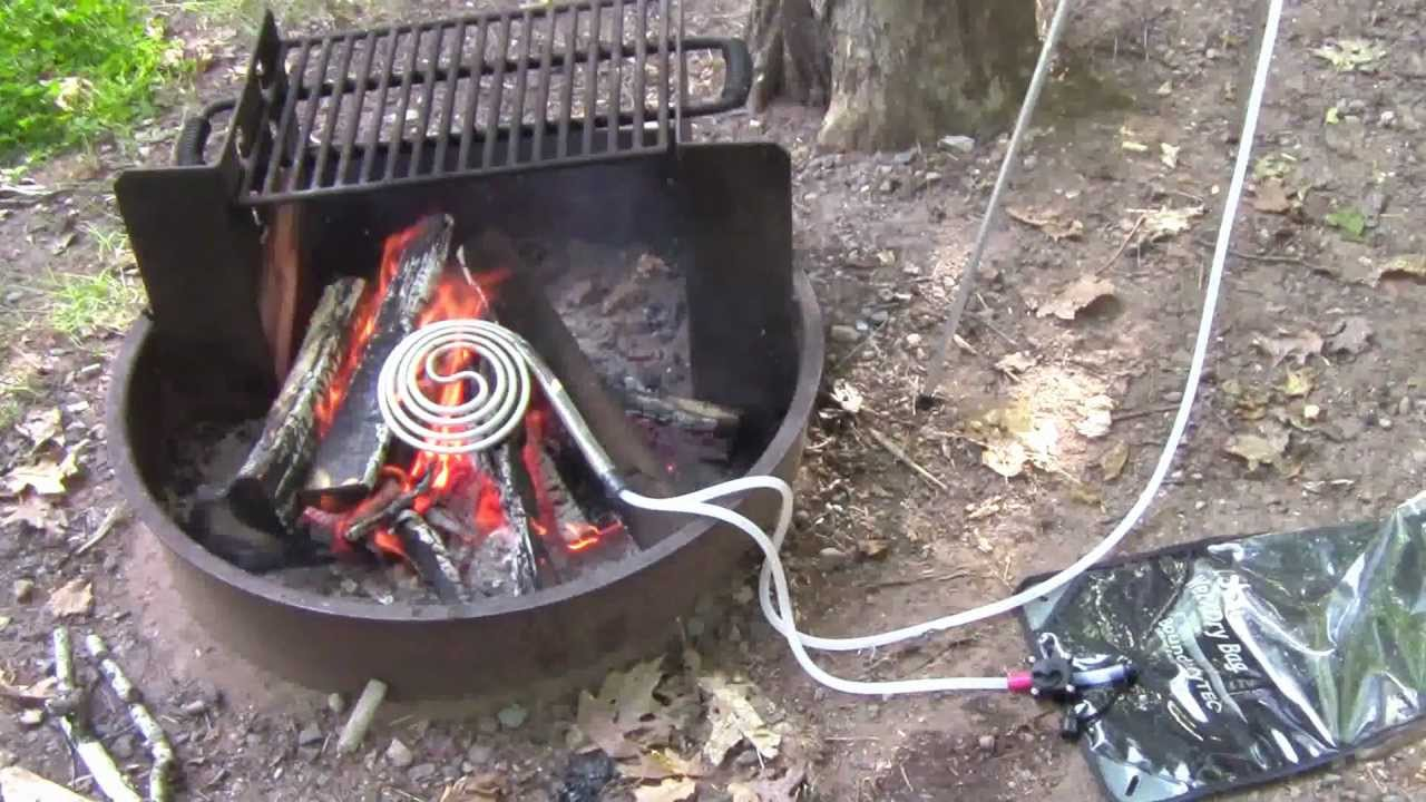 ShowerCoil Portable Water Heater And Solar Camping Shower System   Part 2  Of 2   YouTube