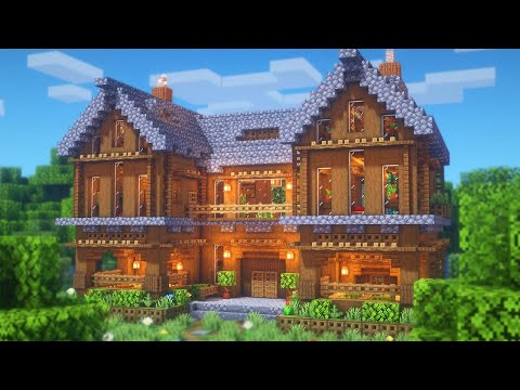 Minecraft: How to Build a Large Spruce Mansion | Large Survival Base Tutorial