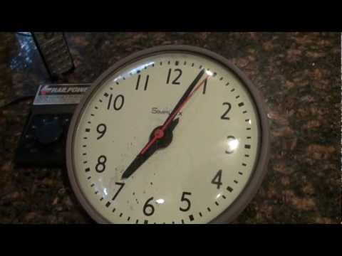 hqdefault simplex time recorder synchronized clock repaired youtube simplex clock wiring diagram at gsmx.co