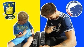 BRØNDBY VS FCK FODBOLD CHALLENGE VS MATTIS!