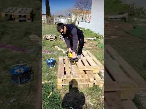 salon de jardin DIY en palette en 1 minute.