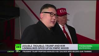 Double trouble: Trump and Kim lookalikes spice up Olympic mood