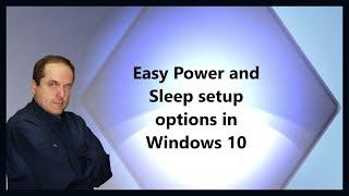 Easy Power and Sleep setup options in Windows 10