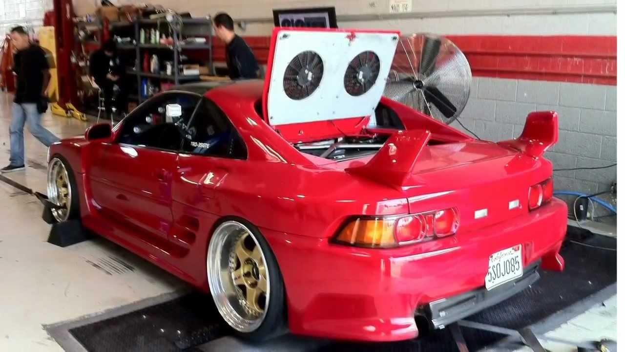 Dyno Mr2 Turbo Widebody On Work Meister S1  Laid Down 298rwhp  254rwtq