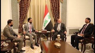 رئيس مجلس الوزراء الدكتور حيدر العبادي يستقبل رئيس مجلس النواب محمد الحلبوسي.
