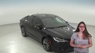 A95672TA - Used, 2015, Chrysler 200, S, Black, Test Drive, Review, For Sale -