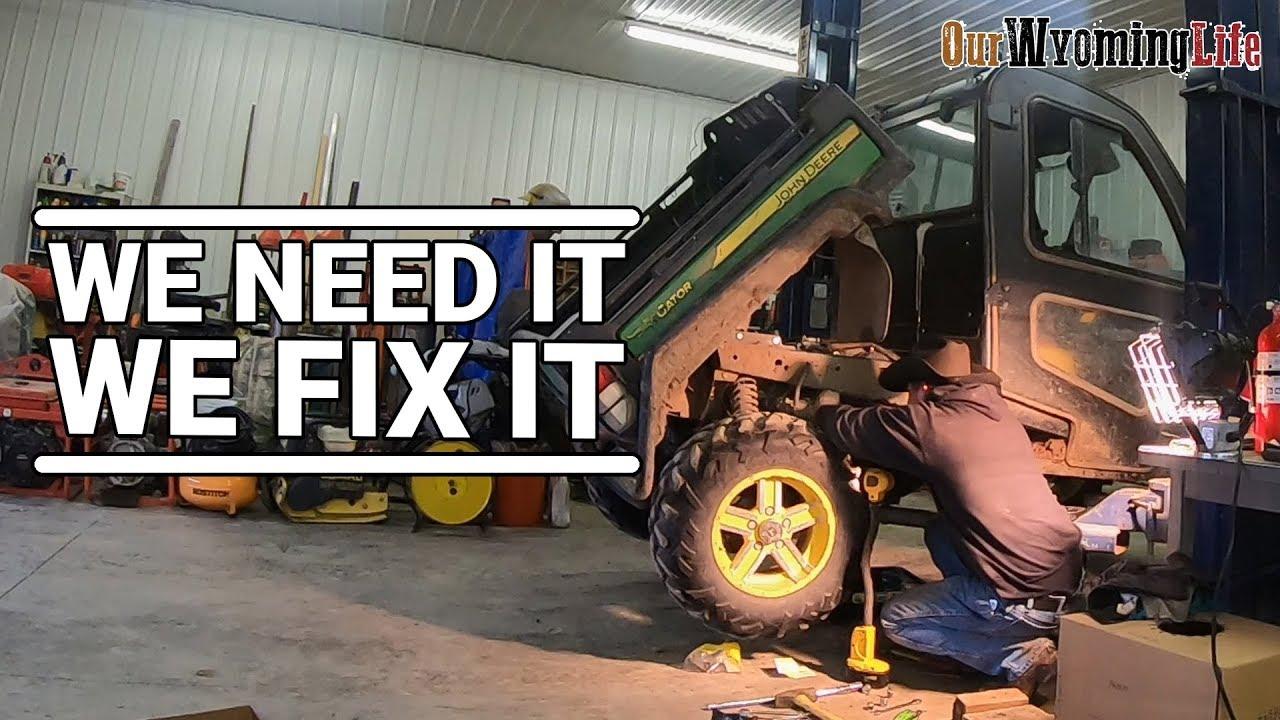 Repairing the John Deere Gator 825i on