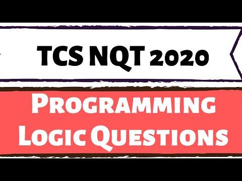 TCS NQT Programming Logic Questions (TCS NQT 2020)