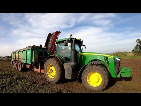 Sklizeň cukrové řepy 2020 - Holmer T4-40, John Deere 8345R RUW 5000 from YouTube · Duration:  5 minutes 7 seconds