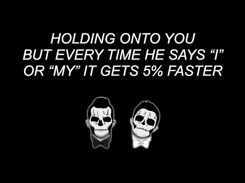 Holding Onto You but every time he says I or My it gets 5% faster