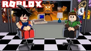 VIRAMOS ANIMATRONICS NA PIZZARIA DO FIVE NIGHTS AT FREDDY'S NO ROBLOX!!