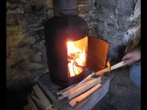 Pot Belly Wood Stove Installation In Home Youtube