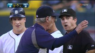 Tigers vs Blue Jays June 27, 2011 Leyland ejected by Rapuano