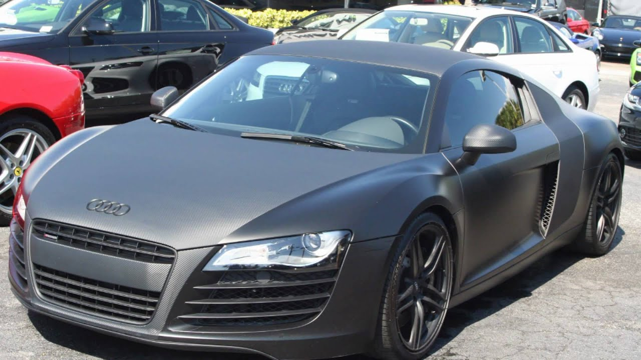 Matte Black Carbon Fiber Audi R8 Youtube