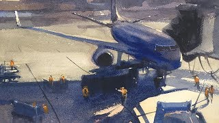 Advancing with Watercolor: Thinking with Brushtrokes
