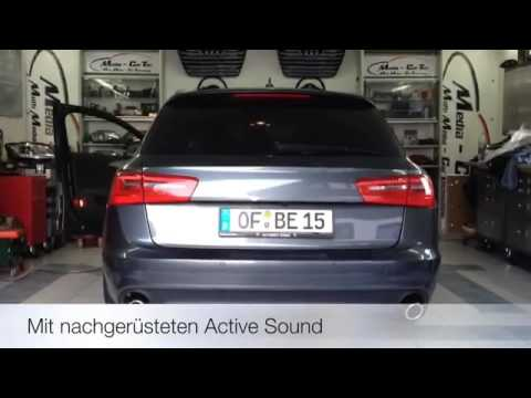 nachr stung eines active soundsystem beim audi a6 4g youtube. Black Bedroom Furniture Sets. Home Design Ideas