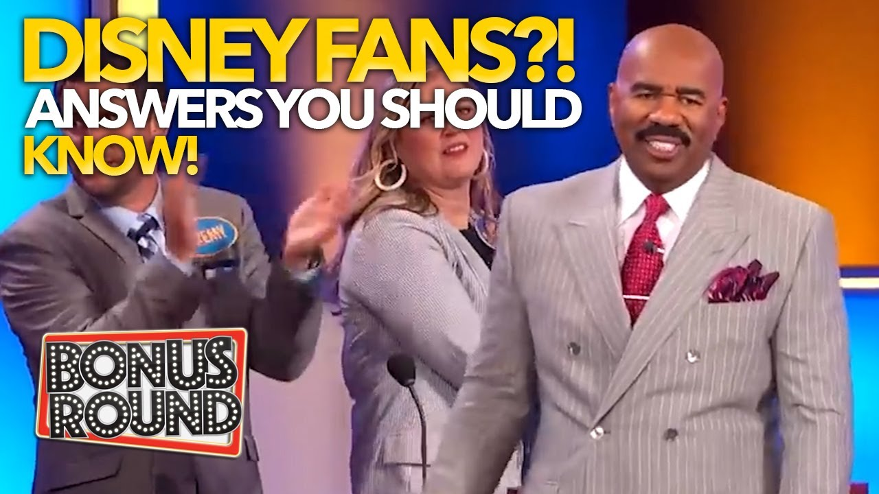 ARE YOU A TRUE DISNEY FAN?! Steve Harvey & Family Feud Hosts Ask The Questions...