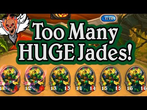 Too Many HUGE Jades!  🍀🎲 ~ Journey to Un'Goro ~ Hearthstone Heroes of Warcraft