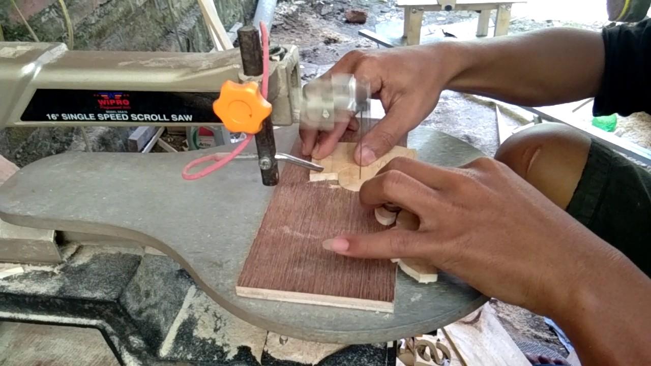 Cara membuat kerajinan dari kayu sederhana - YouTube