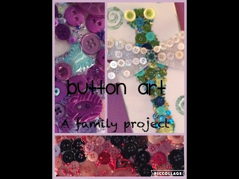"""easy-family-craft-""""bug-button-art""""-redecorating-with-the-kids,-easy-wall-art-for-kids-room"""