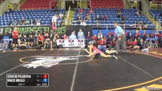 117 Semifinal - Mack Beggs (Texas 2) vs. Gracie Figueroa (California 1)