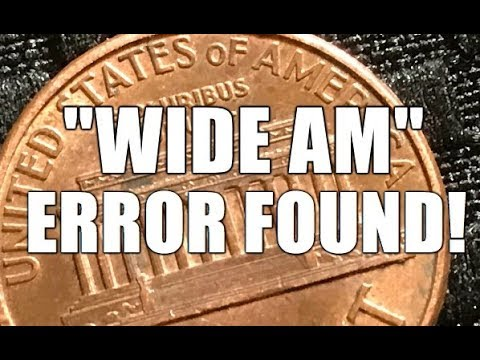 """1998 """"WIDE AM"""" ERROR FOUND! First One Ever! Coin Roll Hunting Penny Rolls"""
