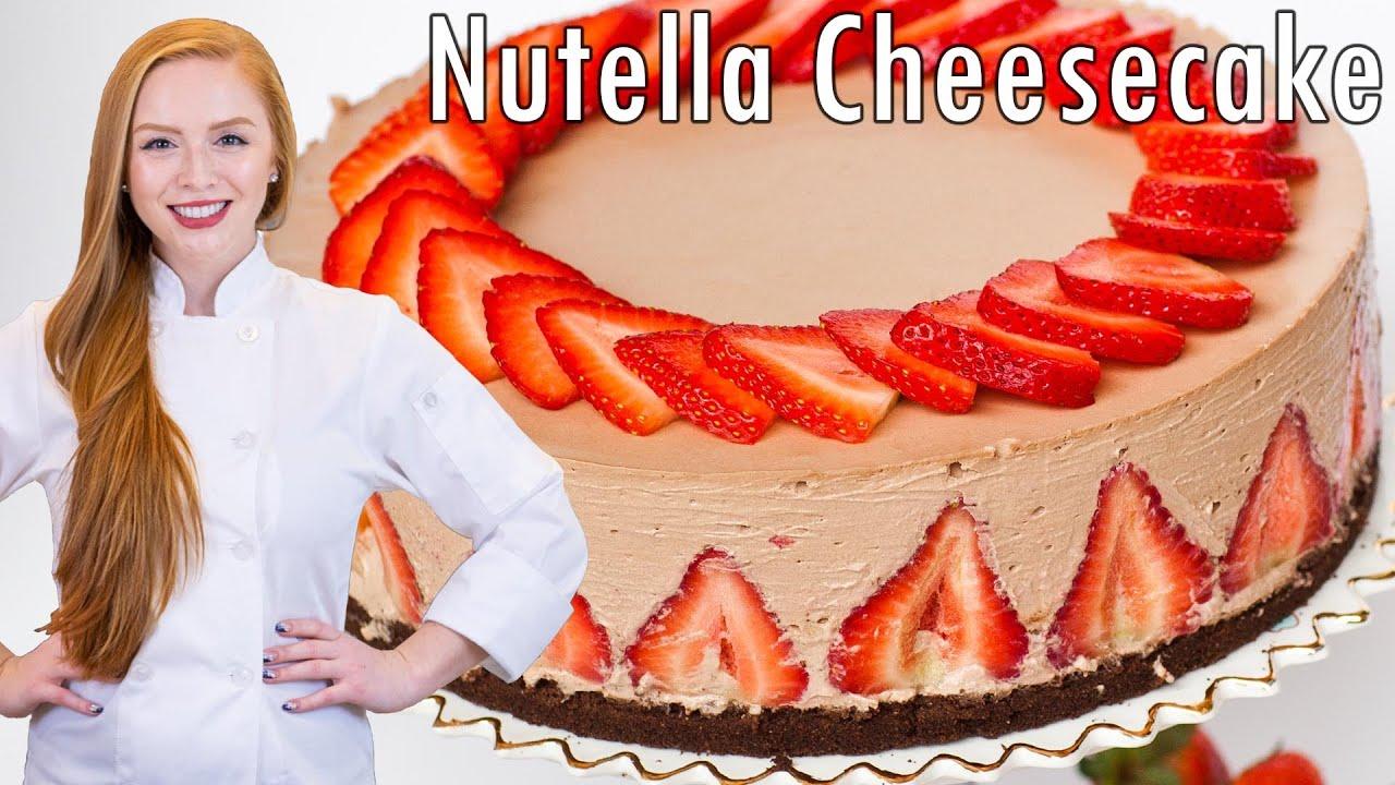 Strawberry Nutella Cheesecake
