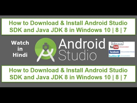 How To Download & Install Android Studio SDK And Java JDK 8 In Windows 10 | 8 | 7 (Watch In Hindi)