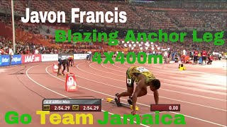 Javon Francis Blazing Anchor Leg 4x400m Men Final IAAF World Championsship Beijing 2015