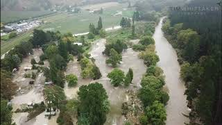 Drone Footage Shows Flooding in New Zealand