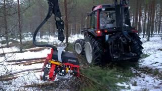Valtra A93 Hitech with Nisula 325H harvester head