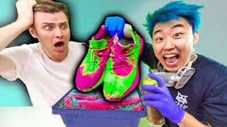 STEALING AND HYDRO DIPPING CARTER'S YEEZYS!!