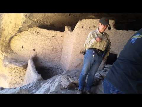The Gila Cliff Dwellings near the Continental Divide Trail.