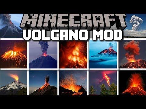 Minecraft VOLCANO MOD / RUN AWAY FROM MELTING LAVA IN NEW YORK CITY!! Minecraft