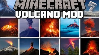 Minecraft VOLCANO MOD / RUN AWAY FROM MELTING LAVA IN NEW YORK CITY!! Minecraft
