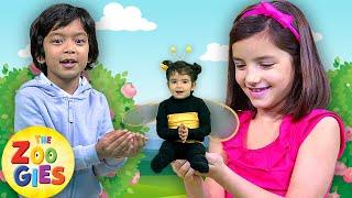 Baby Bumblebee  🌸🐝🌺 NEW Nursery Rhyme | Zouzounia TV