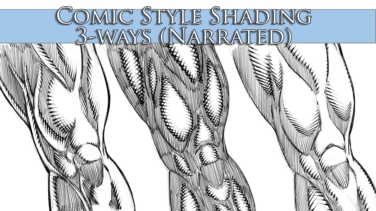 how to shade in a comic book style 3 ways narrated youtube. Black Bedroom Furniture Sets. Home Design Ideas