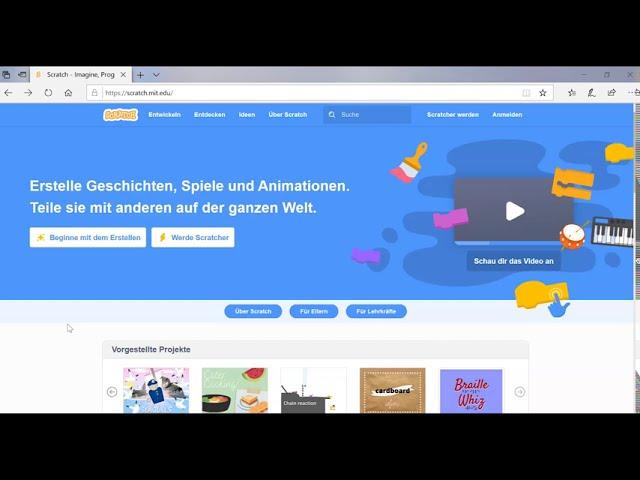 Scratch - Account erstellen