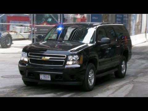 Secret Service Suburban at Ground Zero For Obama at World ...