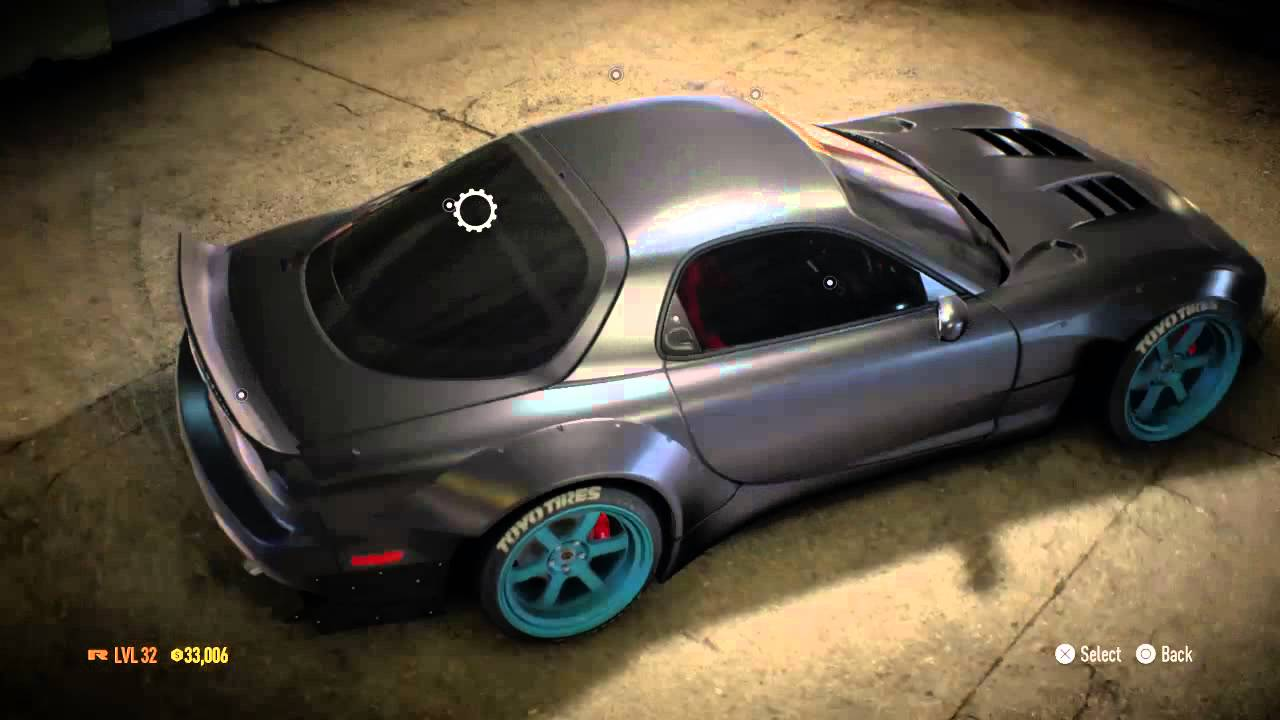 Need For Speed 2015 Mazda RX7 Customization