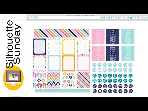 DIY Planner Stickers (Free Template) | Silhouette Sunday