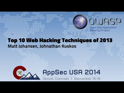 Top 10 Web Hacking Techniques of 2013 - OWASP AppSecUSA 2014