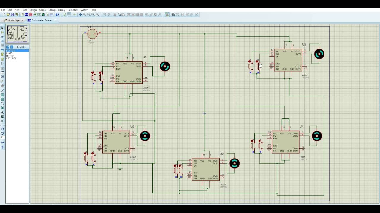 MotorsCircuit Proteus 8 Professional Schematic Capture 24 11 2016 10 on digital electronics, logic synthesis, electronic design automation, schematic editor,
