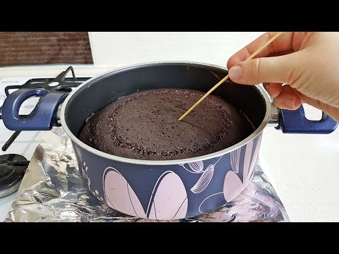Fırın Yok Kalıp Yok - Tencerede Kabaran Kek Nasıl Yapılır - Çok Kolay ve Pratik