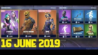 Fortnite ITEM SHOP 16 June 2019 - Synapse Skin, Battle Hound Skin, Hime Skin, Electro Shuffle