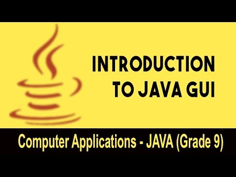 Computer science : Introduction to JAVA GUI | Fundamentals Of GUI | Unit 1