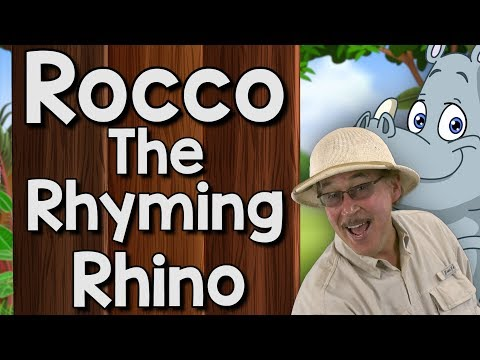 Rocco the Rhyming Rhino  Rhyming Song for Kids  Jack Hartmann