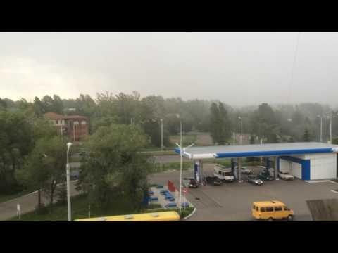 Сильный ураган в Омске (13.07.2016)