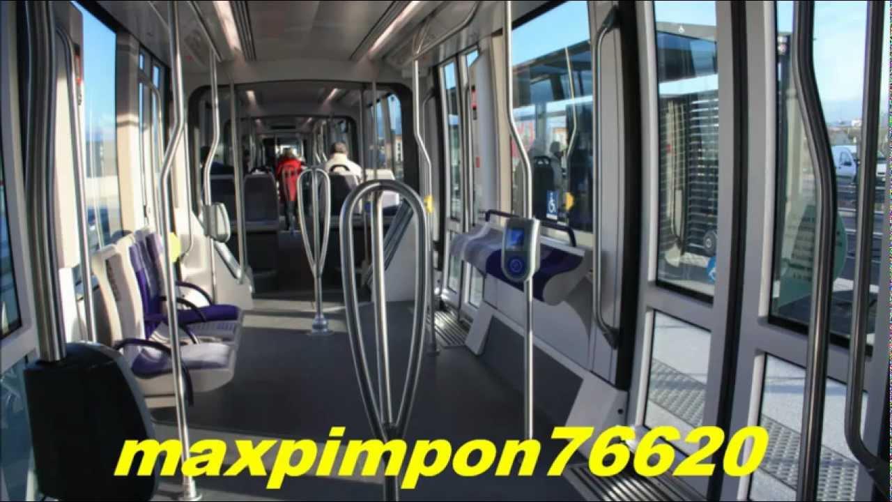 vu int rieur tramway les lignes de l 39 agglo lia le havre 76 youtube. Black Bedroom Furniture Sets. Home Design Ideas